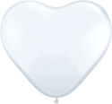 Picture of 11 Inch Heart - White (100/bag)