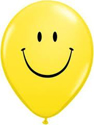 "Picture of 11"" Yellow Smiley Face - Qualatex Balloon (100/bag)"