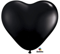 Picture of 6 Inch Heart - Onyx Black (100/bag)