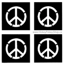 Picture of Mini Peace Sign Stencil (4 in 1)