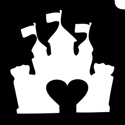 Picture of Castle Heart Stencil (1pc)