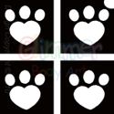 Picture of Mini Heart Paw Stencil (4 in 1) - (5pc pack)