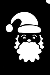 Santa Face Stencil (5pc pack) - Hokey Pokey Shop ...