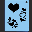 Picture of Heart Group Stencil - SOBA-15