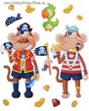 Picture of Foam-Fun Dress-Me-Up Stickers (Monkey - Pirate)