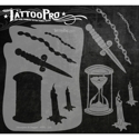 Picture of Tattoo Pro Stencil - Hourglass & Dagger (ATPS-118)