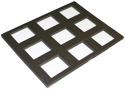 "Picture of Foam Insert for Plastic Case - 9 Rectangle Slots (Most 50gr Split Cakes) (9.65""x12.2"")"