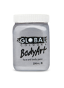 Picture of Global  - Liquid Face and Body Paint  - Metallic Silver 200ml