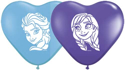 Picture of 6 Inch Heart Anna & Elsa Frozen (100/bag)