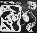 Picture of Tattoo Pro Stencil - Hunting & Fishing (ATPS143)