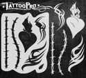 Picture of Tattoo Pro Stencil - Heart &Tribal (ATPS144)