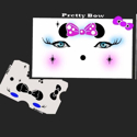 Picture of Pretty Bow Stencil Eyes - 52SE
