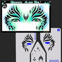 Picture of Queen Anu-Ra Stencil Eyes - 60SE (Child Size 4-7 YRS OLD)