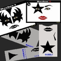 Picture of Rocker 1 & 2 Stencil Eyes - 72/73SE - (Child Size 4 -7 YRS OLD)