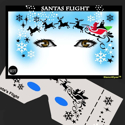 Picture of Santa's Flight Stencil Eyes - 77SE