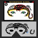 Picture of Scorpion King Stencil Eyes - 78SE