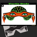 Picture of Turtle Dude Stencil Eyes - 74SE - (Child Size 4-7 YRS OLD)