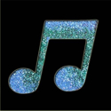 Picture of Double Music Note - Sparkle Stencil (1pc)