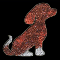Picture of Puppy - Sparkle Stencil (1pc)