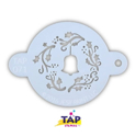 Picture of TAP 071 Face Painting Stencil - Christmas Wreath with Bell