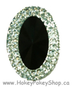 Picture of Double Oval Gems - Black - 18x25mm (3 pc.) (SG-DO2)