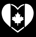 Picture of Canada Heart Flag - Sparkle Stencil (1pc)