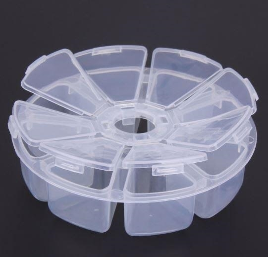 Round Plastic Container 8 Compartments Hokey Pokey