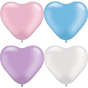 Picture of 6 Inch Heart - Pearl Assortment (100/bag)
