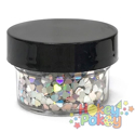 Picture of ABA Chunky Glitter - Holographic Silver Hearts (15ml)