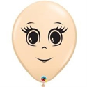 "Picture of 5"" Blush Feminine Face Balloons (100/bag)"