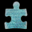 Picture of Puzzle Piece - Sparkle Stencil (1pc)