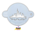 Picture of TAP 053 Face Painting Stencil - City Scape