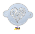 Picture of TAP 068 Face Painting Stencil - Ornate Heart