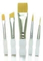 Picture of R&L Soft Grip Golden Taklon - Variety Beginner's Brush Set (SG302) - 5pc