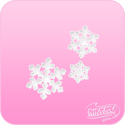 Picture of Pink Power Face Painting Stencil (1139) - Triple Snowflakes