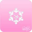Picture of Pink Power Face Painting Stencil (1133) - Snowman Flake