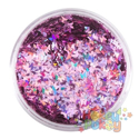 Picture of Art Factory Chunky Glitter - Pink Butterflies - 50ml
