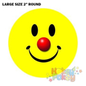 Picture of Sticker Roll - Classic Clown Smiley Face LARGE - 250/roll