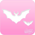 Picture of Pink Power Face Painting Stencil (1002) - Bats