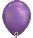 "Picture of 11"" Chrome PURPLE round balloons - 100 count"