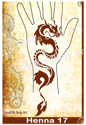 Picture of Henna Stencil 17 - Dragon - SOBA