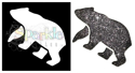 Picture of Bear - Sparkle Stencil (1pc)