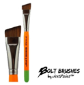 "Picture of BOLT Face Painting Brushes by Jest Paint - FIRM 3/4"" Angle"