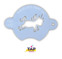 Picture of TAP 090 Face Painting Stencil - Chubby Little Unicorn