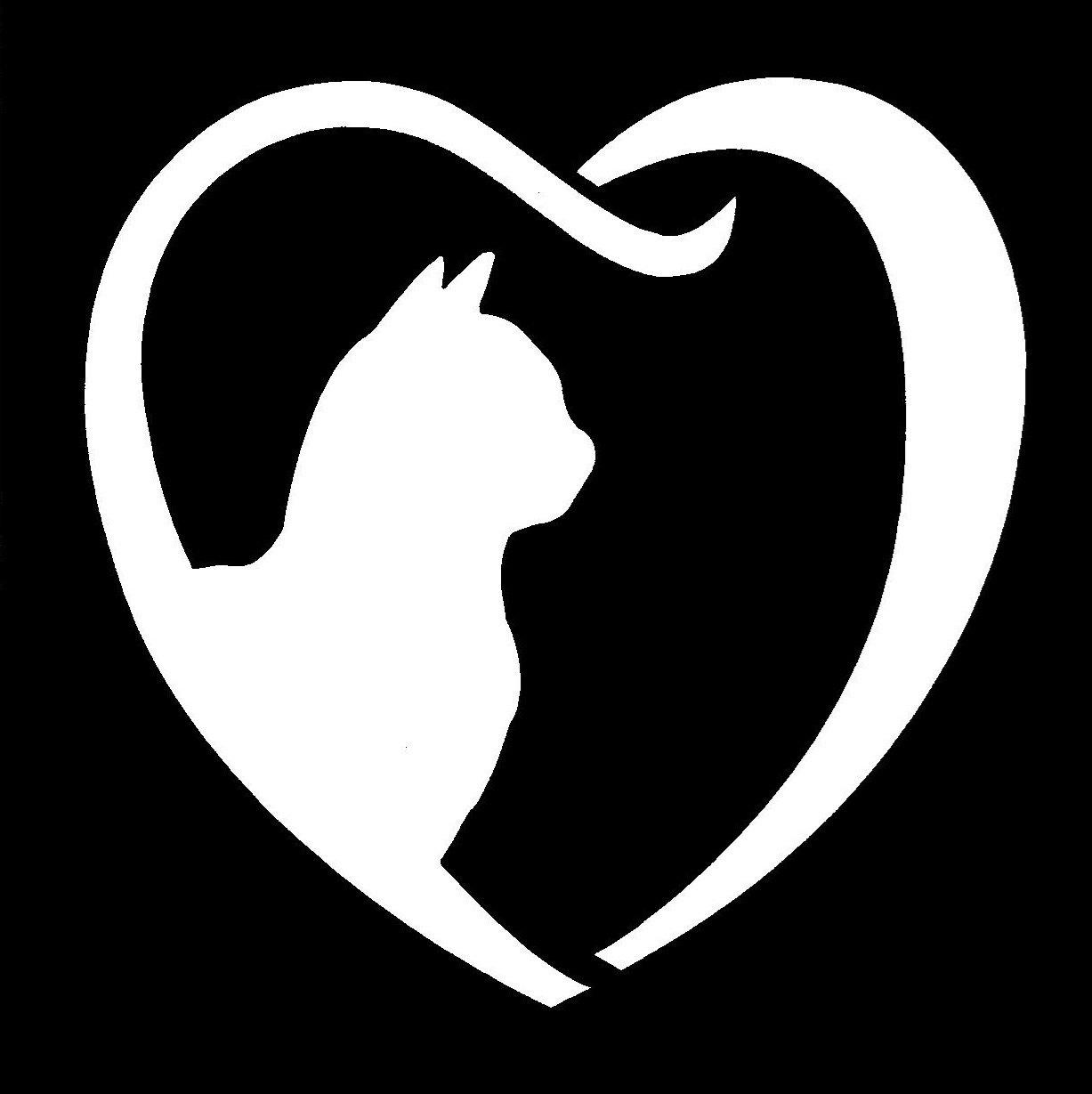 Cat Heart Sparkle Stencil 1pc Hokey Pokey Shop