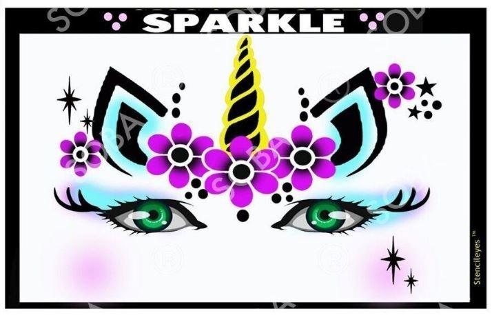 Sparkle Unicorn - Stencil Eyes