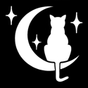 Picture of Cat In The Moon - Sparkle Stencil (1pc)