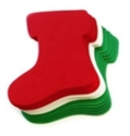 "Picture of 6"" Holiday Foam-Fun Shape Stacks - Stocking (20pc) (KX040)"