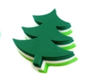 "Picture of 6"" Holiday Foam-Fun Shape Stacks - Christmas Tree (20pc) (KX040)"