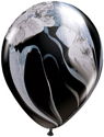 "Picture of 11"" SuperAgate - Black & White - 25 Count"